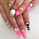 Nail Art Decoration - Diamond Ring / Silver Charm Jewelry 3D