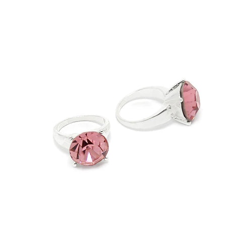 Diamond Ring / Silver / Rose