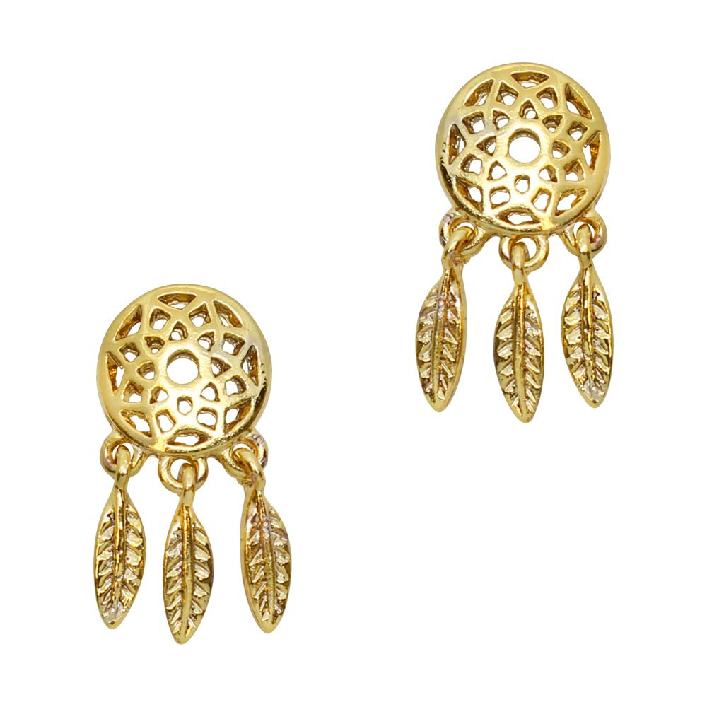 Nail Art Charms Dreamcatcher / Gold