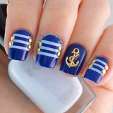Nail Art Decoration - Anchor / Gold