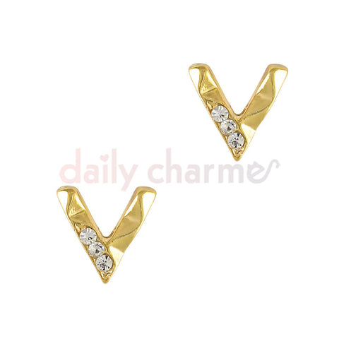 Daily Charme 3D Nail Art Charm Decorative Geometric Bend / Gold