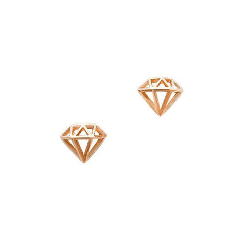 Diamond / Small / Rose Gold Nail Art Charm Jewelry
