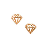 Diamond / Large / Rose Gold Nail Art Charms