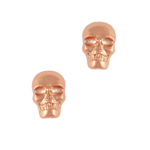 Skull / Rose Gold Nail Art Charms