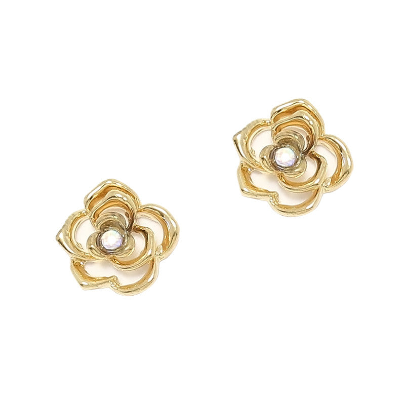 Camellia / Gold Nail Charm 3D Flower Jewelry
