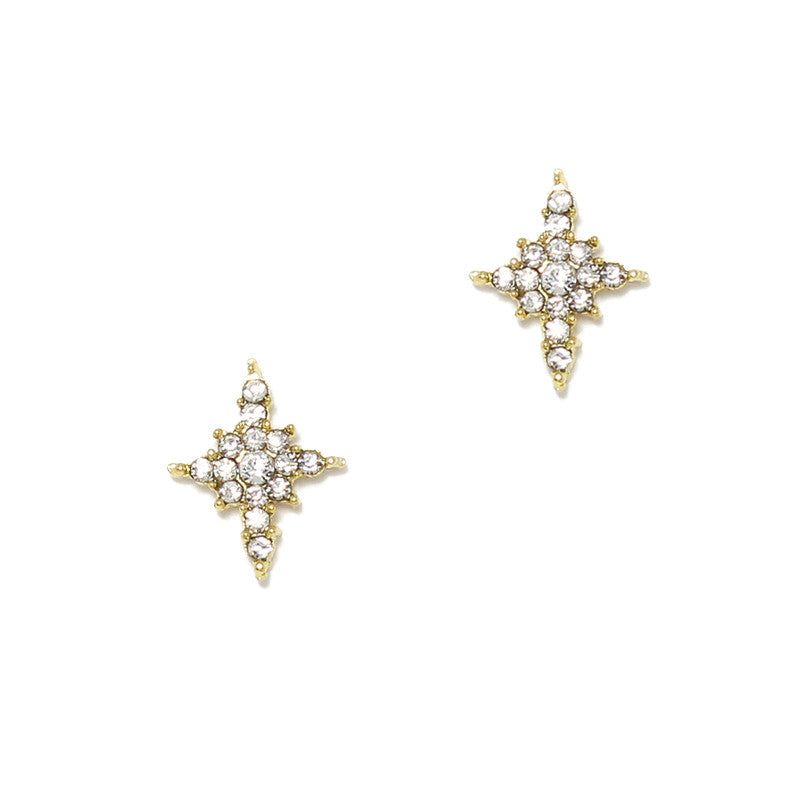 North Star / Gold Nail Charm Jewelry Decor 3D Bling