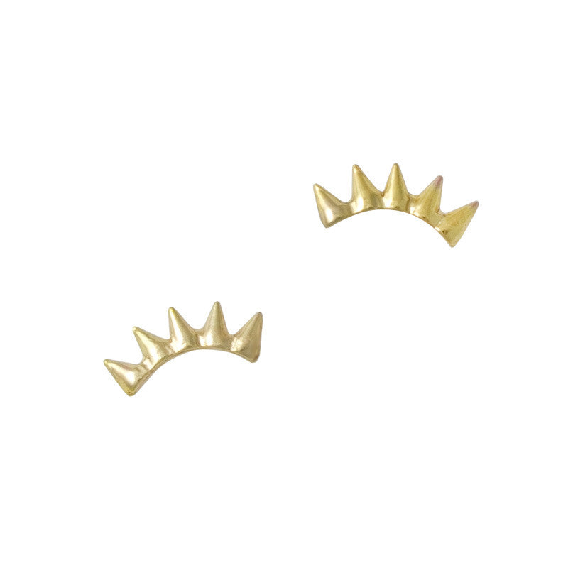 Nail Art Jewelry Charm - Spike Crown / Gold