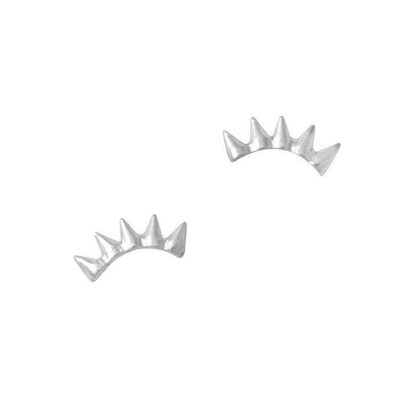 Nail Art Jewelry Charm - Spike Crown / Silver