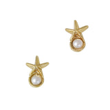 3D Nail Charm Jewelry Starfish Pearl Gold Ocean Mermaid