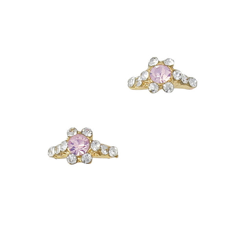 Audrey's Ring / Gold / Pink Opal Nail Charm 3D Art Jewelry Supply