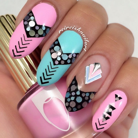Nail Charm Jewelry - Pop Pastel Chevron
