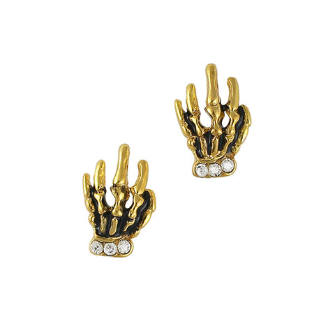 Nail Charm Jewelry - Skeleton Hand / Gold