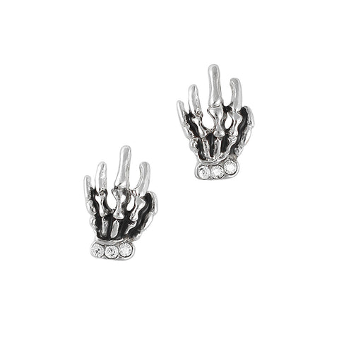 Nail Charm Jewelry - Skeleton Hand / Silver