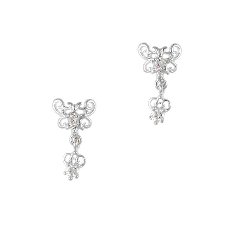 Luxe French Tip Dangle / Silver – Daily Charme