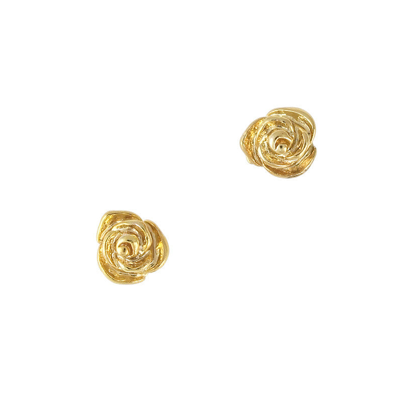 3D Nail Art Charm Jewelry Gold Mini Roses