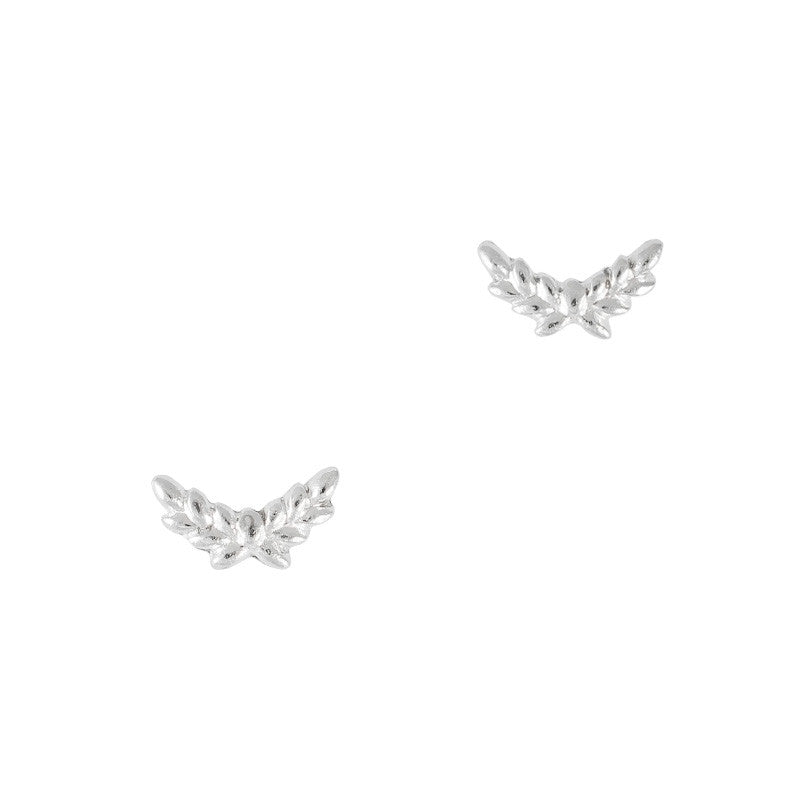 3D Nail Art Charm Jewelry Leaf Crescent Silver