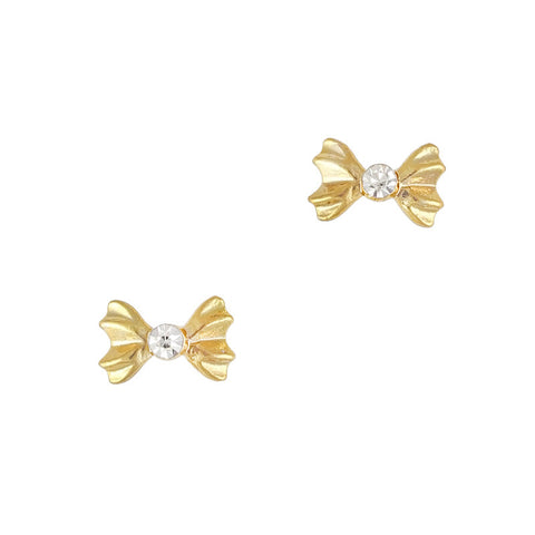 3D Nail Art Charm Jewelry Accordion Bow Gold