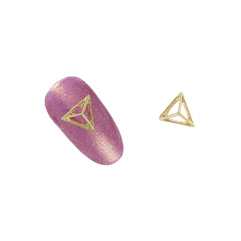 3D Nail Art Charm Jewelry Pyramid Frame / Gold