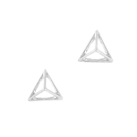 3D Nail Art Charm Jewelry Pyramid Frame / Silver