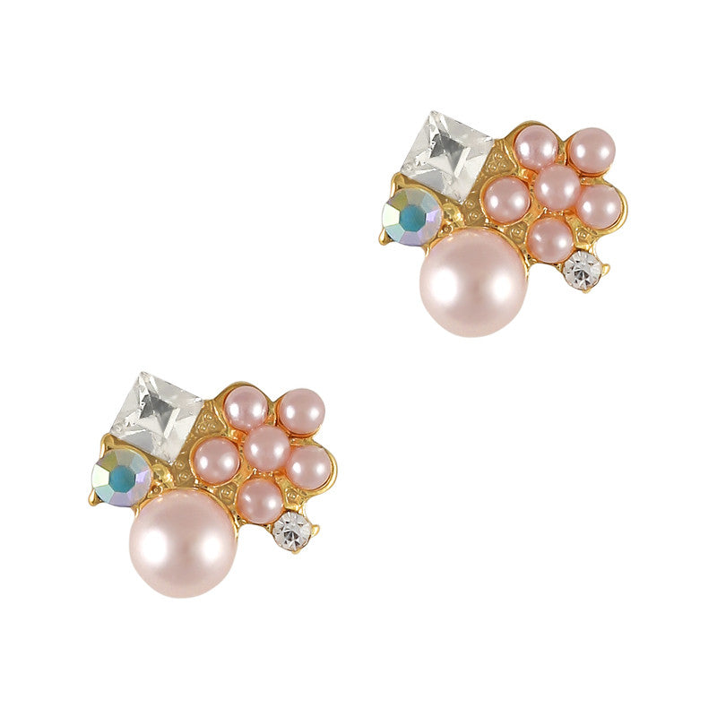 3D Nail Jewelry Charm Dainty Pearl Cluster / Pink
