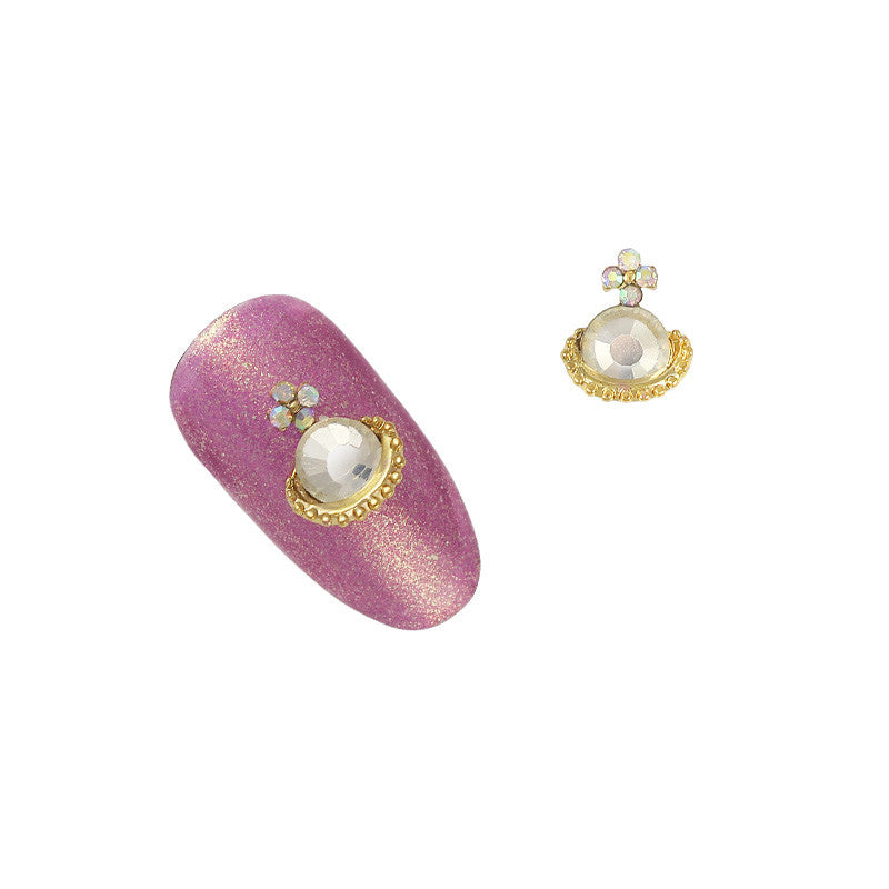 3D Nail Art Jewelry Charm - Isabel's Orb / Gold