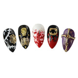 Gold Bones Halloween Nail Art Charm Jewelry 3D