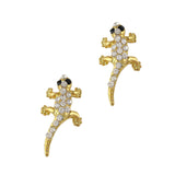 Nail Art Charm Jewelry 3D Gecko Gold