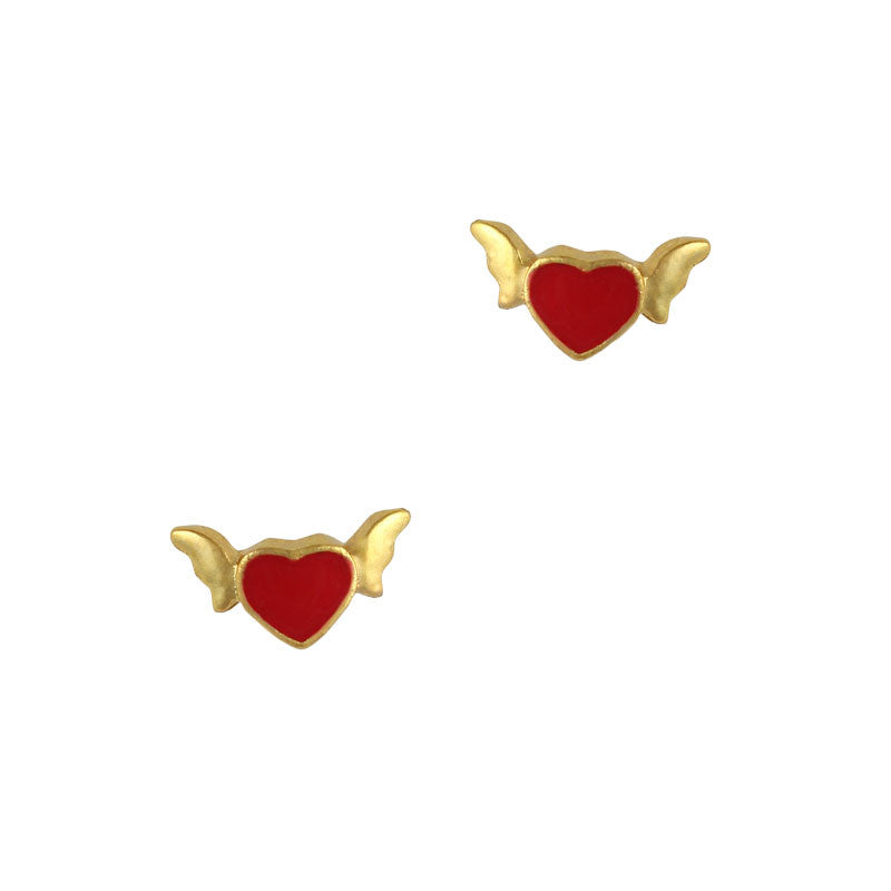 Nail Art Charm Jewelry 3D Flying Heart