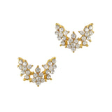 Nail Charm Jewelry 3D Ornate Crystal Wings Gold