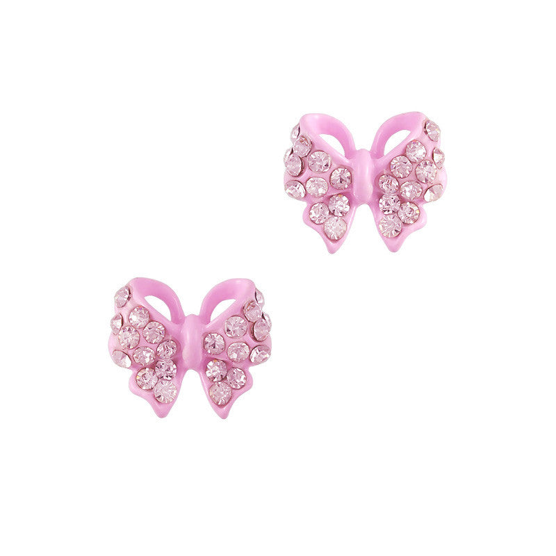 Nail Charm Jewelry 3D Pastel Ribbon Bow Pink