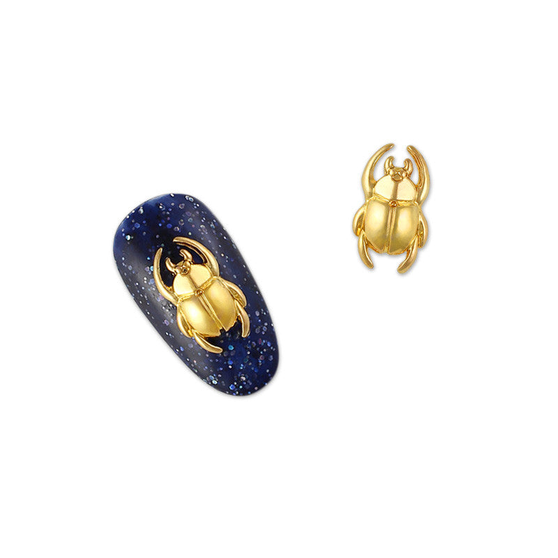 Daily Charme 3D Nail Art Charm Jewelry Scarab / Gold