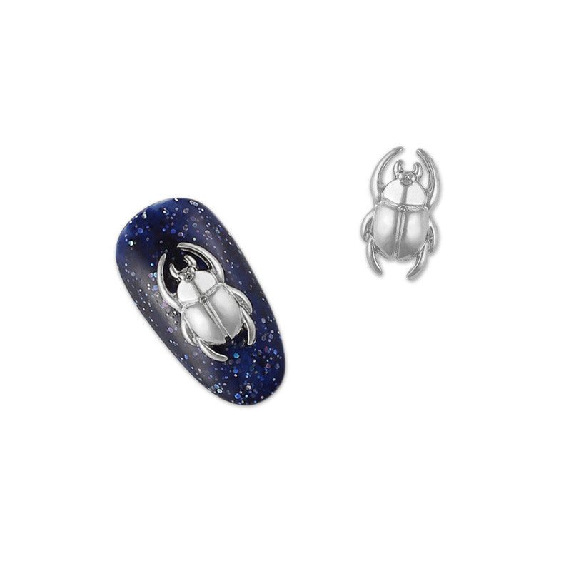 Daily Charme 3D Nail Art Charm Jewelry Scarab / Silver