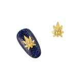 Daily Charme 3D Nail Art Charm Jewelry Leaf / Gold