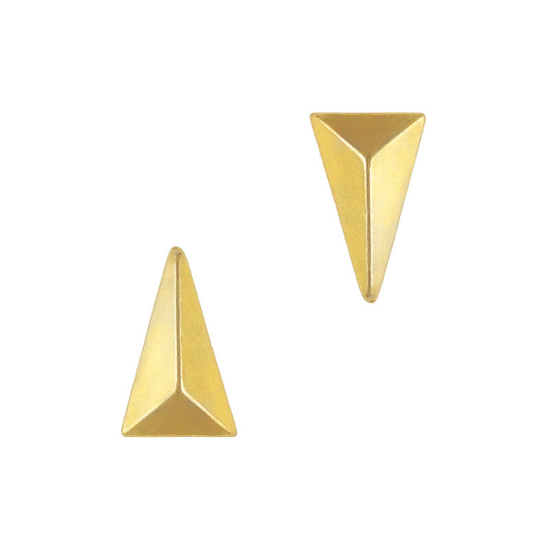 Daily Charme 3D Nail Art Charm Jewelry Long Pyramid Stud / Gold