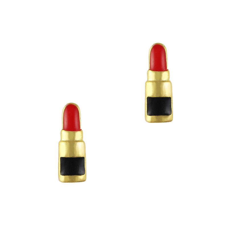 Daily Charme 3D Nail Art Charm Jewelry Classic Lipstick / Gold