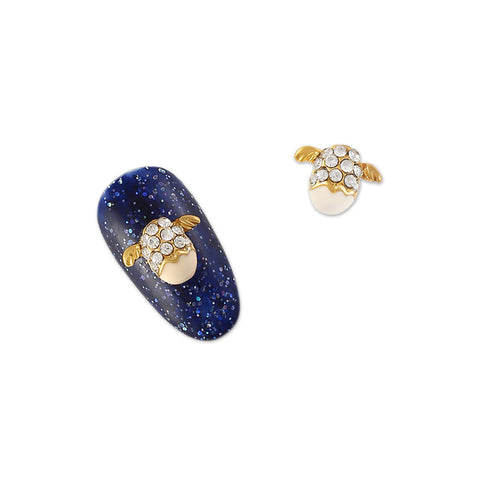 Daily Charme 3D Nail Art Charm Jewelry Angel Egg / Gold