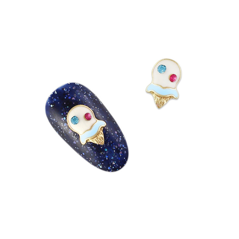 3D Nail Charms Ice Cream Cone / Blue