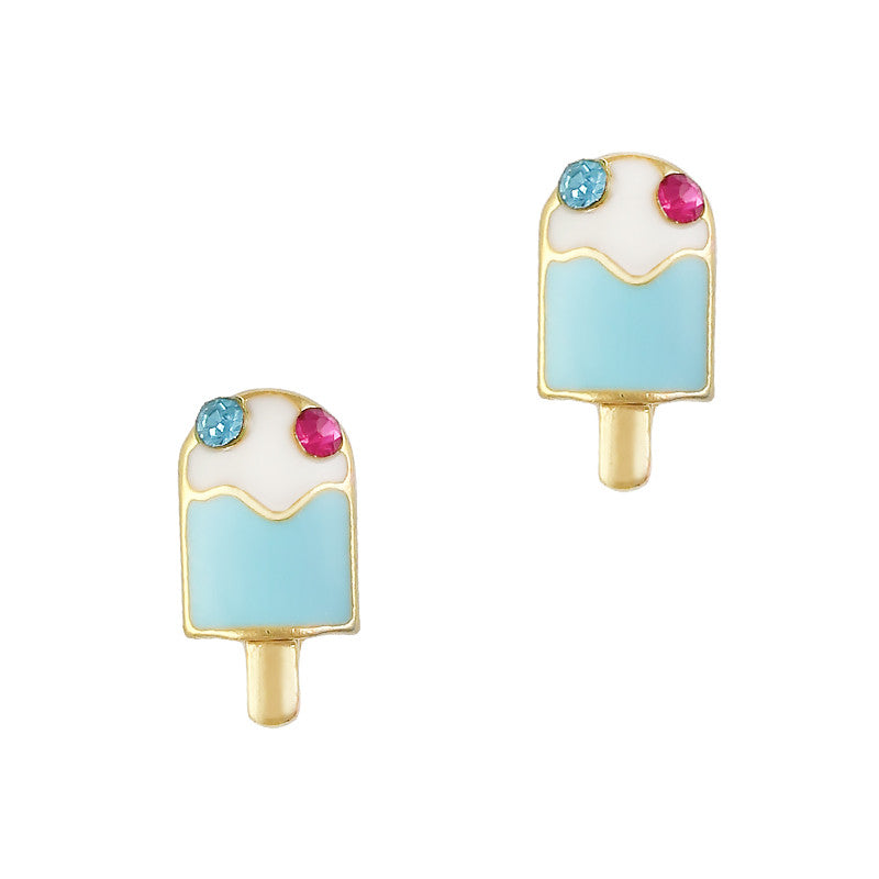 Nail Art Charm Blue Popsicle Rhinestone Crystal Jewelry