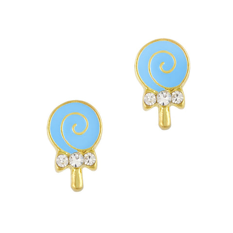 Nail Art Charm Blue Lollipop Rhinestone Crystal Jewelry