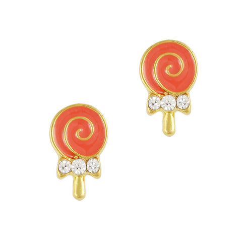 Nail Art Charm Coral Lollipop Rhinestone Crystal Jewelry