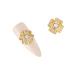 3D Rhinestone Crystal Nail Art Charms Primrose / Cream