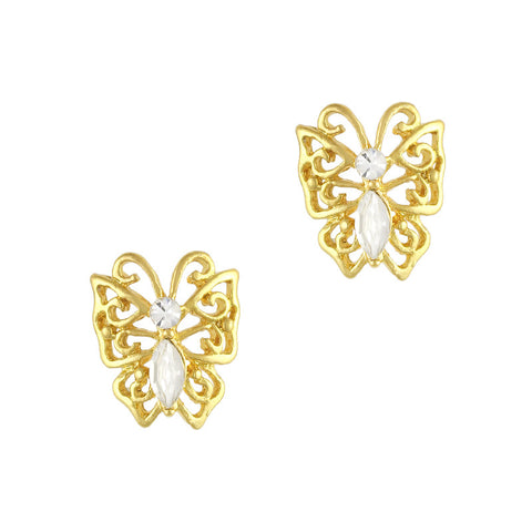 Diamond Butterfly Charme / Gold