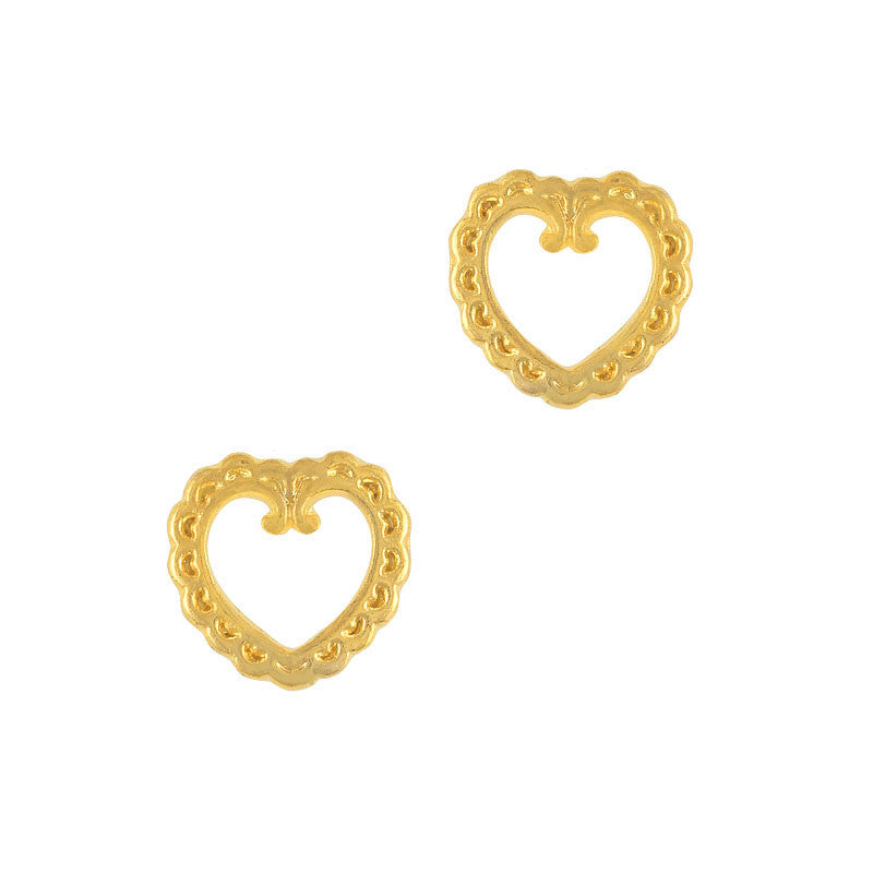 Lace Heart Frame / Gold