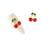 Nail Art Charme Cherries Fruit Crystal Jewelry