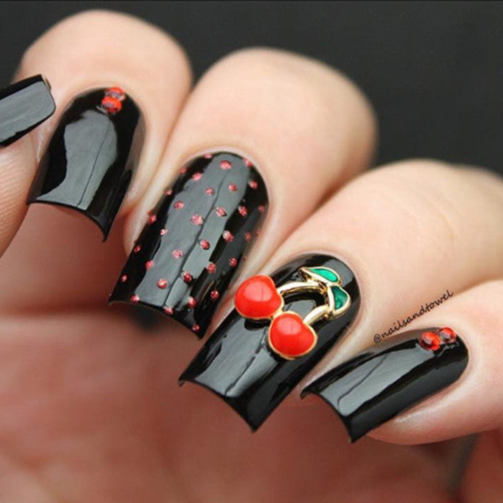 Nail Art Charme Cherries Fruit Crystal Jewelry Cherry