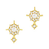 Nail Art Charm Rhinestone Crystal Jewelry - Ornate Compass / Gold