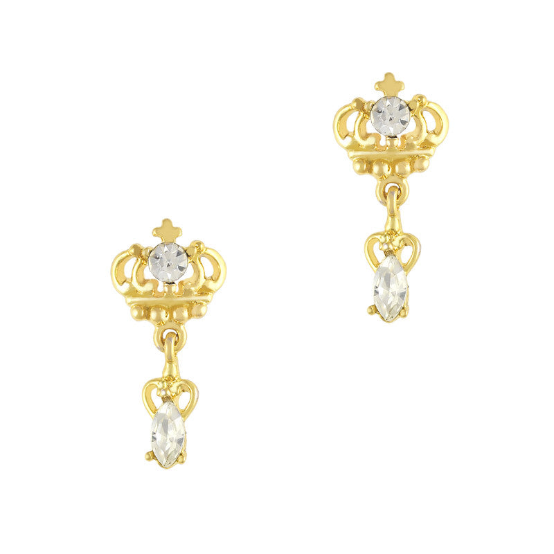 Nail Charm Jewelry - Luxe Crown Dangle / Gold