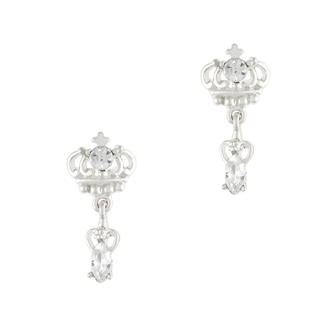 Nail Charm Jewelry - Luxe Crown Dangle / Silver
