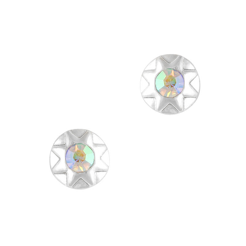 Nart Art Geometric Round Gem / Silver / AB Crystal Supply Design