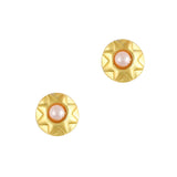 Nart Art Geometric Round Gold Pink Pearl Supply Design